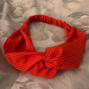 American Eagle Red Striped Twist Headband